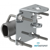 SCAN-Mast-Rail-Mount-25mm-for Marine antenna-mifi-hotspot-frontview-03